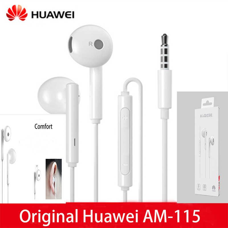 Original Huawei écouteur Honor AM115 casque micro 3.5mm pour HUAWEI P7 P8 P9 Lite P10 Plus Honor 5X 6X Mate 7 8 9 smartphone