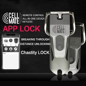 QIU Sex Shop blokada mężczyzna Chastity Cage urządzenie mężczyzna kobiet SM kontrola aplikacji produktu Chastity Cage Gay zabawki erotyczne dla mężczyzn Cock Ring tanie i dobre opinie Silikon 2003105 Penis pierścionki