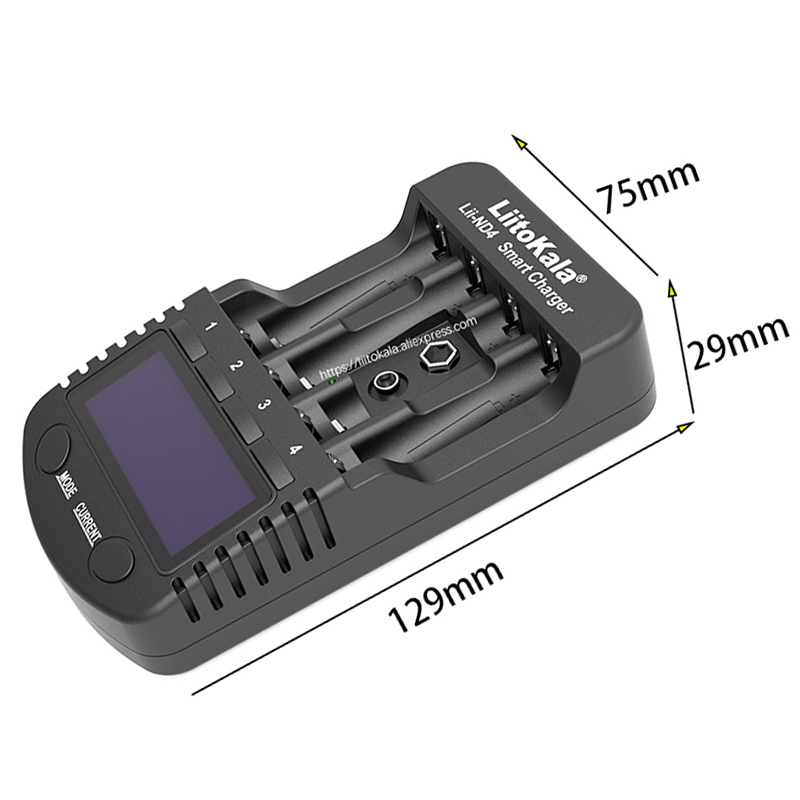 cheapest LiitoKala Lii-ND4 NiMH   Cd charger aa aaa charger LCD display and test battery capacity For 1 2 V aa aaa and 9V batteries