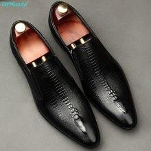 Chaussures Oxford de mariage faites à la main pour hommes, Brogue en cuir véritable, noir, kaki, chaussures formelles d'affaires