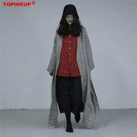 New 2019 Retro Vintage Women Plus Size Summer Maxi Dress comfortable plaid print Cotton Linen Long Robe Dress