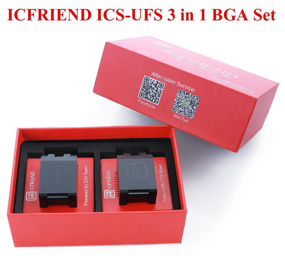 MOORC ICFRIEND ICS-UFS 3 in 1 BGA Set UFS BGA 3 in 1 with Z3X Easy Jtag Plus box(China)