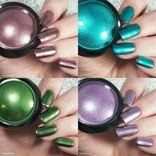 Metallic Color Nail Mirror Glitter Powder Decorations Manicure Nail Art UV Gel Polishing Chrome Flakes Pigment Shinny Dust