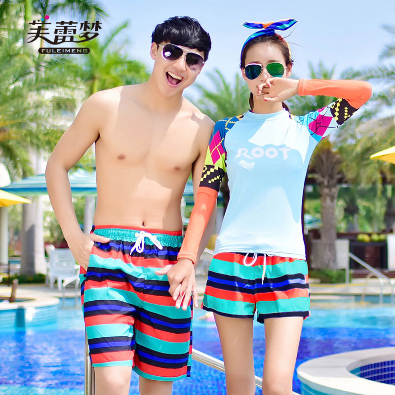 2018 Korean-style Beach Shorts Men's Shorts Couple Clothes Bali Holiday Seaside Holiday Quick Drying Pants Unisex Fashion Large