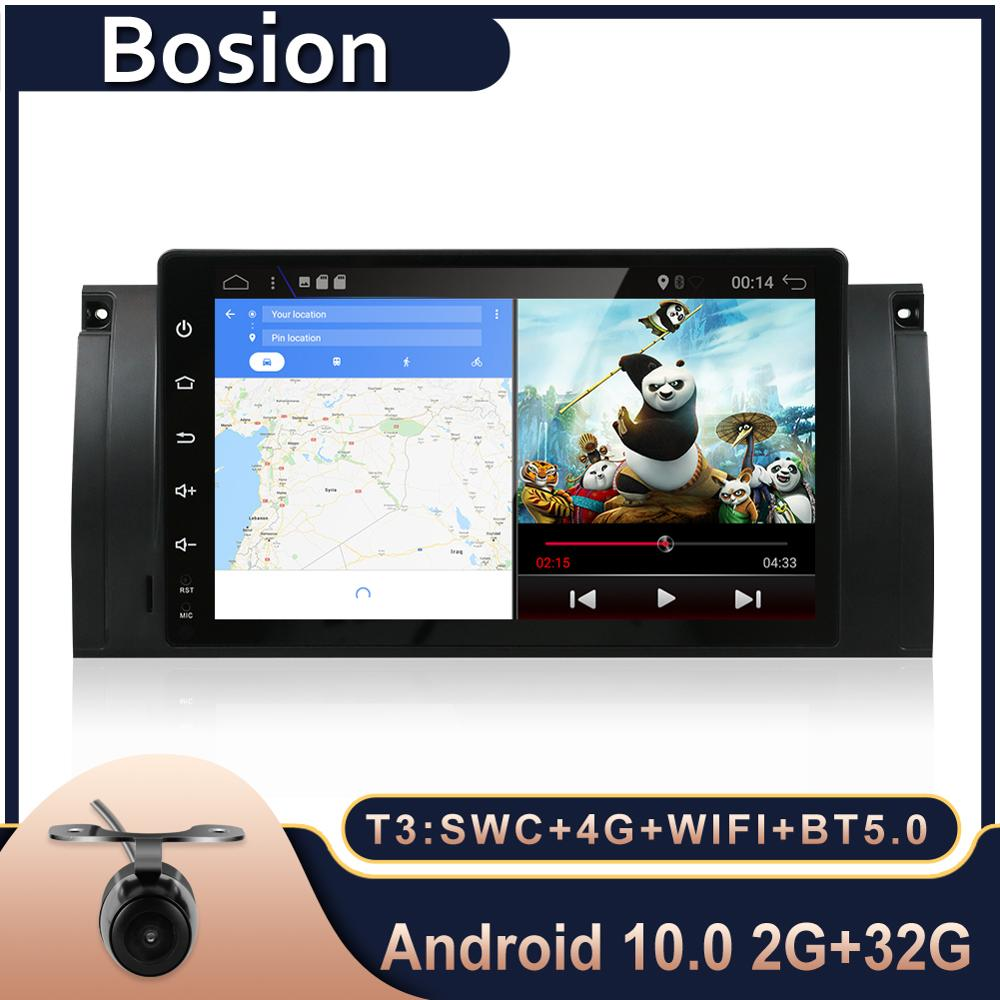 Bosion 9 car radio GPS Navigation autoradio Android 10.0 Quad Core 2G RAM Aux for BMW E39 E53 X5 M5 E38 RADIO Elm327 sopported image