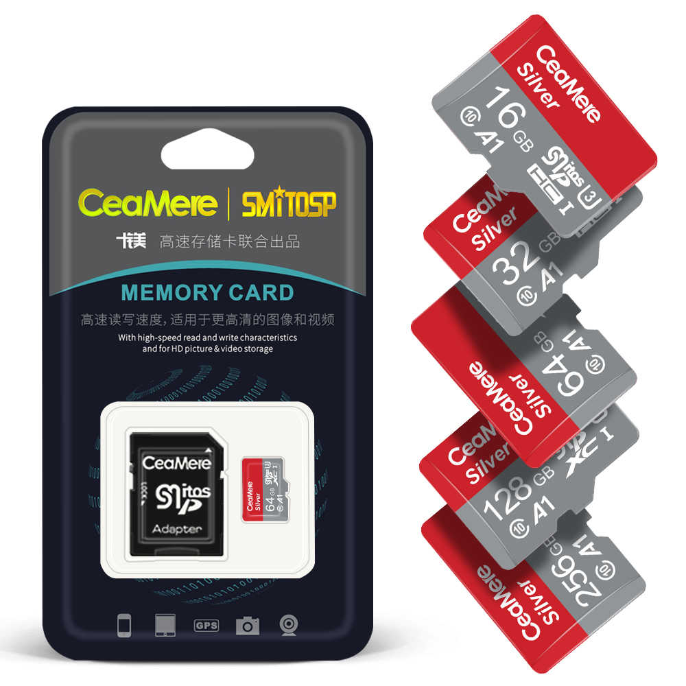MicroSDXC Card 256GB Class 10 High Speed Micro TF Card Memory Card UHS-1 C10 U1 with Free SD Card Adapter for Smartphones and Other Compatible Devices