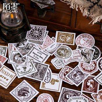 45 sztuk Vintage znaczek naklejki papierowe Scrapbooking Planner średniowieczny Retro znaczek dekoracyjna naklejka etykieta Bullet Journal Supplies tanie i dobre opinie vblingstone CN (pochodzenie) TZ-285 3 lata Sticker 44x44x11mm Paper Box 45pcs box Scrapbooking Diary Album DIY
