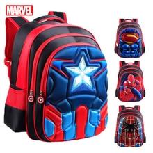 MARVEL Superman Batman Spiderman Schoolbags Captain America Boy Girl Children School