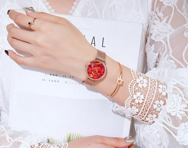 relógio de moda tendência design geométrico cinto relógio