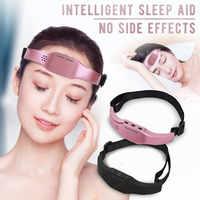 Testa Massager elettrico Sonno Monitor Emicrania Relief Massaggiatore Insonnia Lo Stress Di Rilascio Di Terapia Dispositivo Di Terapia del Sonno Di Sonno Di