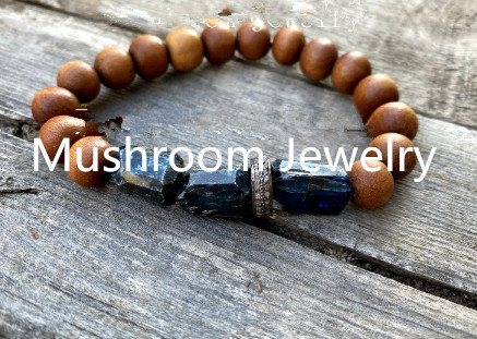 Boho Pave Cubic Zircon Natural Elastic Bracelet Stone Jewelry For Women Wood Bead Bracelet Yoga Mala