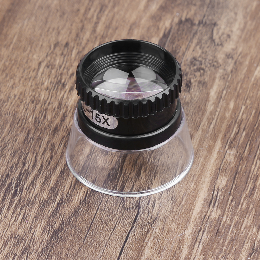 15X Monocular Magnifying Glass Loupe Lens Map Eye Magnifier Jewelry Repair Tool