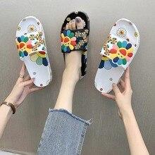 Пляж сандалии Открытый тапочки для женщин лето подсолнух SunFloral ползунки женские домашние шлепанцы флопы женские мягкие шлепанцы обувь