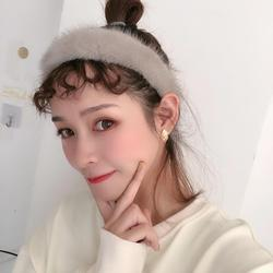 real mink fur headband furry fluffy 2020 fashion head band