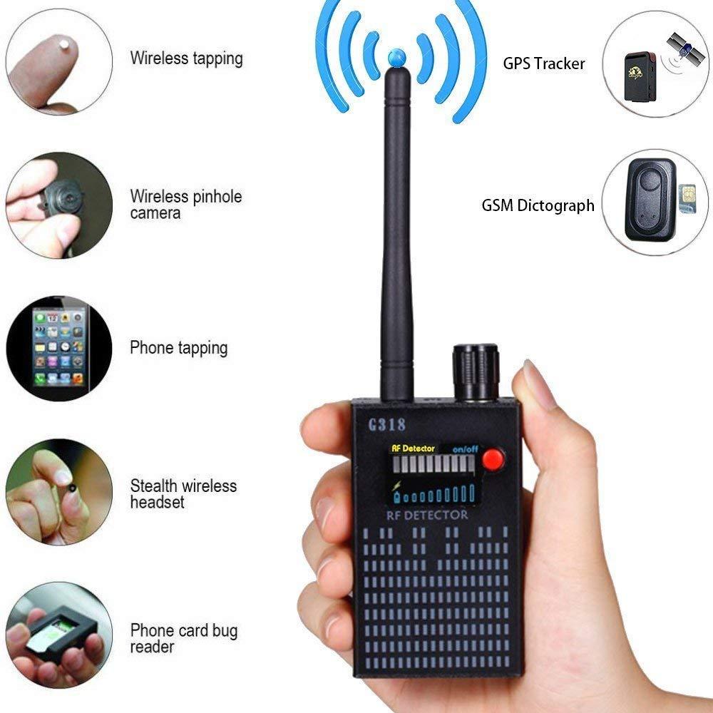 G318 Spy Wiretap Gps Jammer Bug Eavesdropping Detector Spy Camera Hidden Camera GPS GSM RF Sound Signal Spy Devices Finder