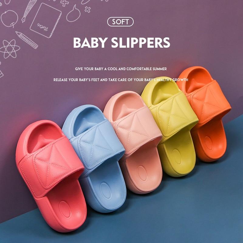 Summer Kids Shoes For Boys Girls Solid Light Non Slip Children Garden Shoes Toddler Indoor Home Beach Slippers Sandals