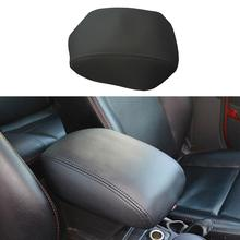 Car interior accessories For Honda armrest cover Microfiber PU leather car center armrest console box pad protective cover trim car styling center control armrest box skin cover black microfiber leather with blue stitching for toyota rav4 rav 4 2006 2014