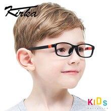 Monture de lunettes Tr90 Flexible pour enfants, noires, de sport, monture, pour enfants, en caoutchouc, optique lunetterie