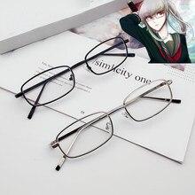 Очки-реквизит для косплея пекояма из «данганронпа», маленькие прямоугольные солнцезащитные очки для мужчин и женщин, Ретро металлическая о...