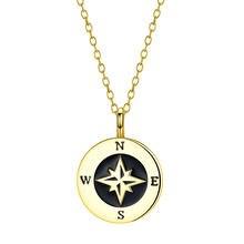 Brand Elegnat Women Necklaces 925 Silver Jewellery Golden Color Round Lion Pendant Chains Portrait Charm Female Necklace Dainty
