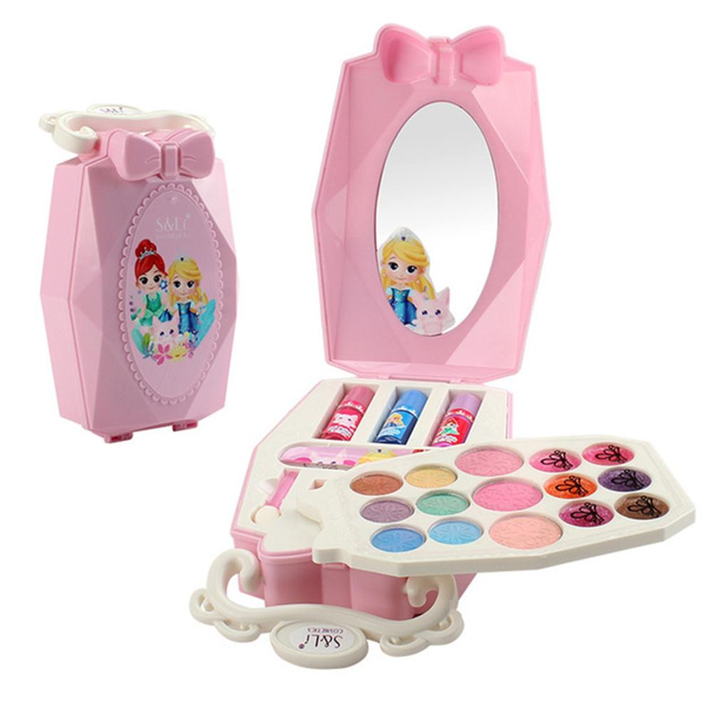 22PCS Princess Portable Baby Makeup Toys Girls Pretend Play Safe Makeup Kit Safety Toy Cosmetics Games Best Gifts For Kids image