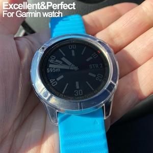 Image 2 - Crystal Clear TPU מקרה עבור Garmin Fenix 6 6S 6X פרו רך סיליקון מגן Case כיסוי עבור Vivoactive 4 4S שעון אבזרים