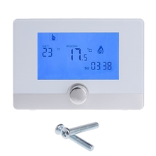 Programmable Digital Room Thermostat for Wall-hung Gas Boiler Heating System 5A цена