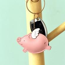 New PU Leather Dinosaur Whale Unicorn Elephant Bear Keychain For Car KeyRing Women Key Holder Girls Charm Bag Couple Pendant