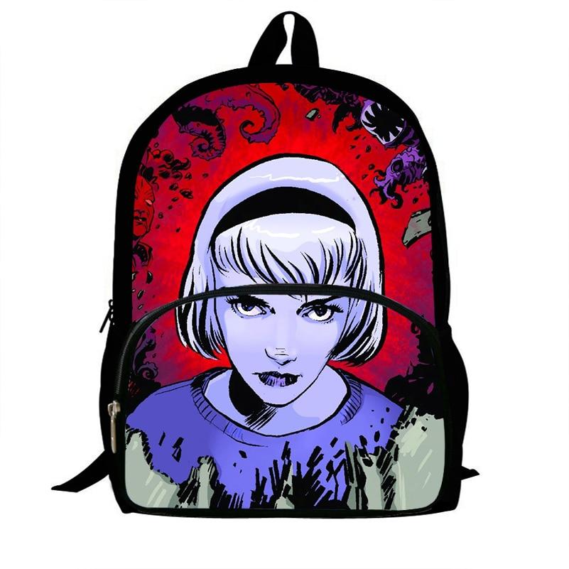 High Quality Adventures Of Sabrina Backpack School Bag For Teenage Girls Rucksack Backpacks School Bags Travel Mochila