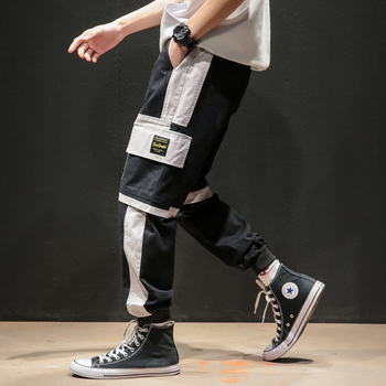 2020 New Hip Hop Joggers Cargo Pants Men Harem Pants Multi-Pocket Ribbons Man Sweatpants Streetwear Casual Mens Pant - Black, XXL