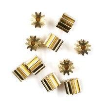 Медная Шестерня диаметром 0,6 мм 102A 7,2 м, 10 зубьев, механические детали, отверстие 1,98 мм, латунная шестерня, маленькая Шестерня модуля s