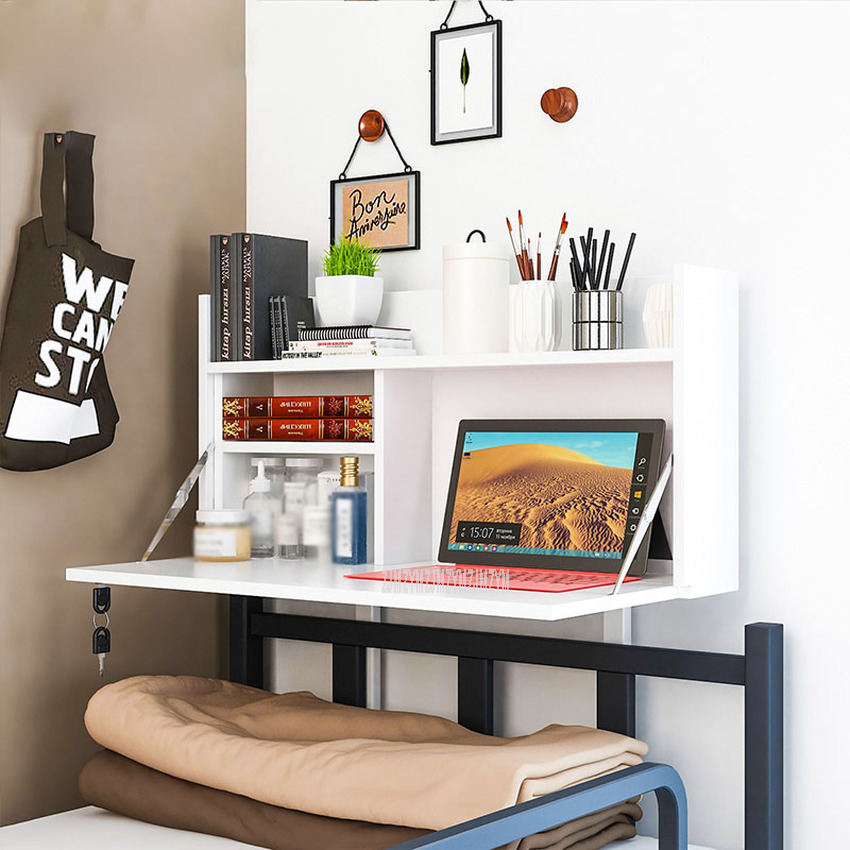 College Student Dormitory Foldable Table Mounted On Bed Creative Computer Laptop Notebook Stand On Bed Head Desk Table
