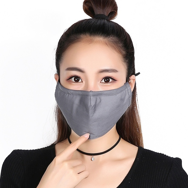 PM2.5 mouth Mask anti dust Activated carbon filter Windproof Mouth-muffle bacteria proof Flu masks 3