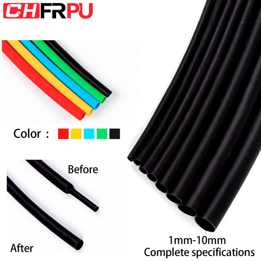 5 medidor 21 poliolefina psiquiatra calor shrinkable tubo fio cabo de isolamento reparação 1 2 3 5 6 8 10mm várias cores