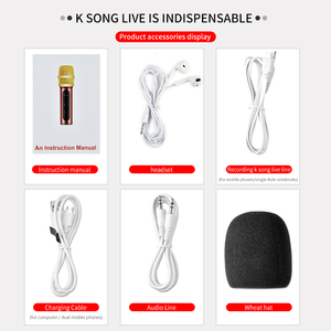 Image 5 - Portable Professional Karaoke Condenser Microphone Sing Recording Live Microfone For Mobile Phone Computer With ECHO Sound Card