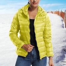 2019 Hooded Women Winter Jacket Short Cotton Padded Outwear Female Coat Warm