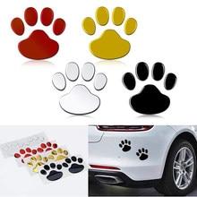 Lot de 1 à 2 autocollants de Protection de voiture, empreintes de pattes d'animaux 3D, Cool Design, chien
