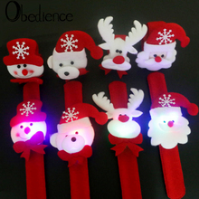 Obedience Christmas decorations led with lights clap ring luminous Bracelet gifts