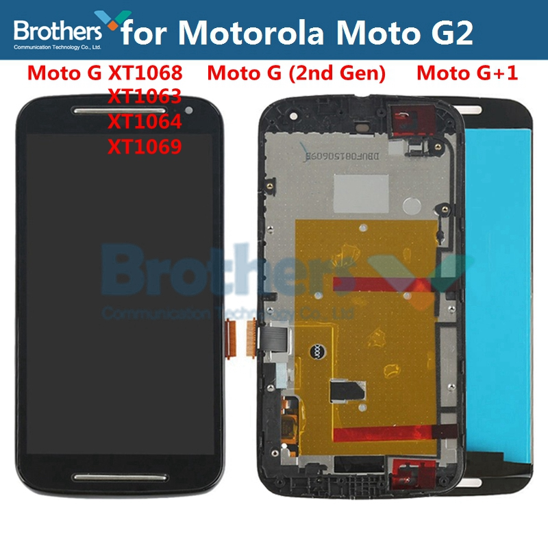 For <font><b>Motorola</b></font> Moto G2 LCD <font><b>Display</b></font> Touch Screen Digitizer for Moto G2 <font><b>XT1068</b></font> XT1063 XT1069 LCD Assembly LCD Screen Replacement Top image