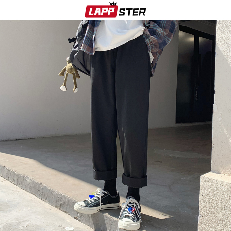 LAPPSTER Men Harajuku Harem Pants 2020 Summer Over