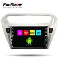 Funrover IPS 4G+64G ROM Android 9.0 Car DVD Player GPS Navigation Multimedia For peugeot 301 Citroen Elysee Radio 2013 2016 DSP