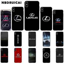 NBDRUICAI lexus logo TPU Soft Silicone Phone Case Cover for iPhone 11 pro XS MAX 8 7 6 6S Plus X 5 5S SE XR case(China)