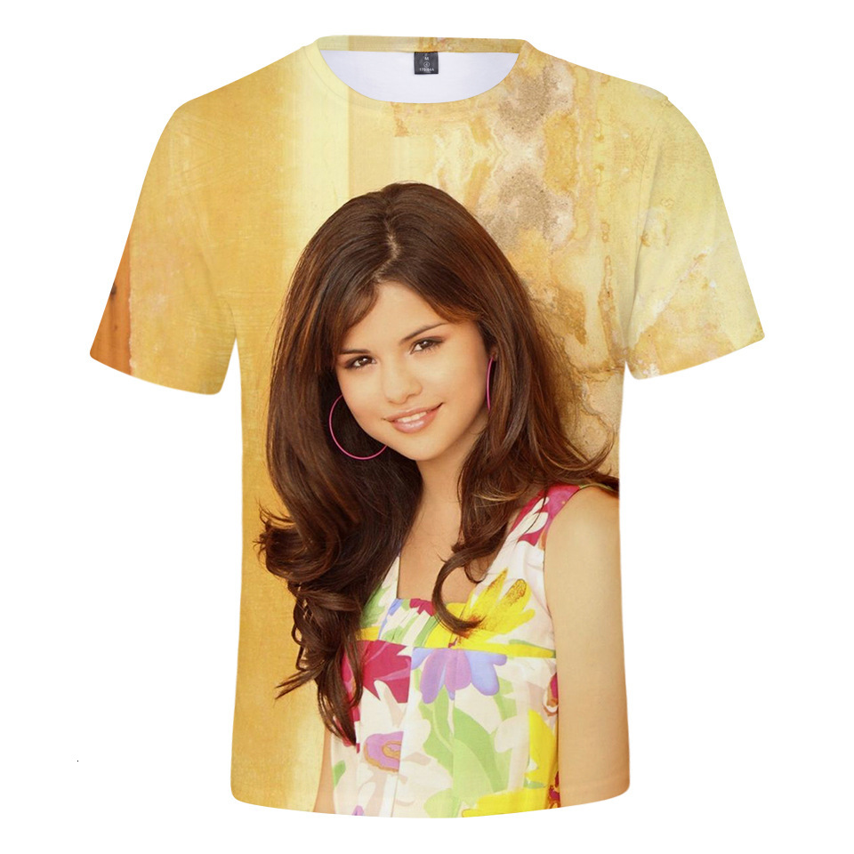 T-shirt Femme, impression 3d, Selena Gomez Singer, 2021