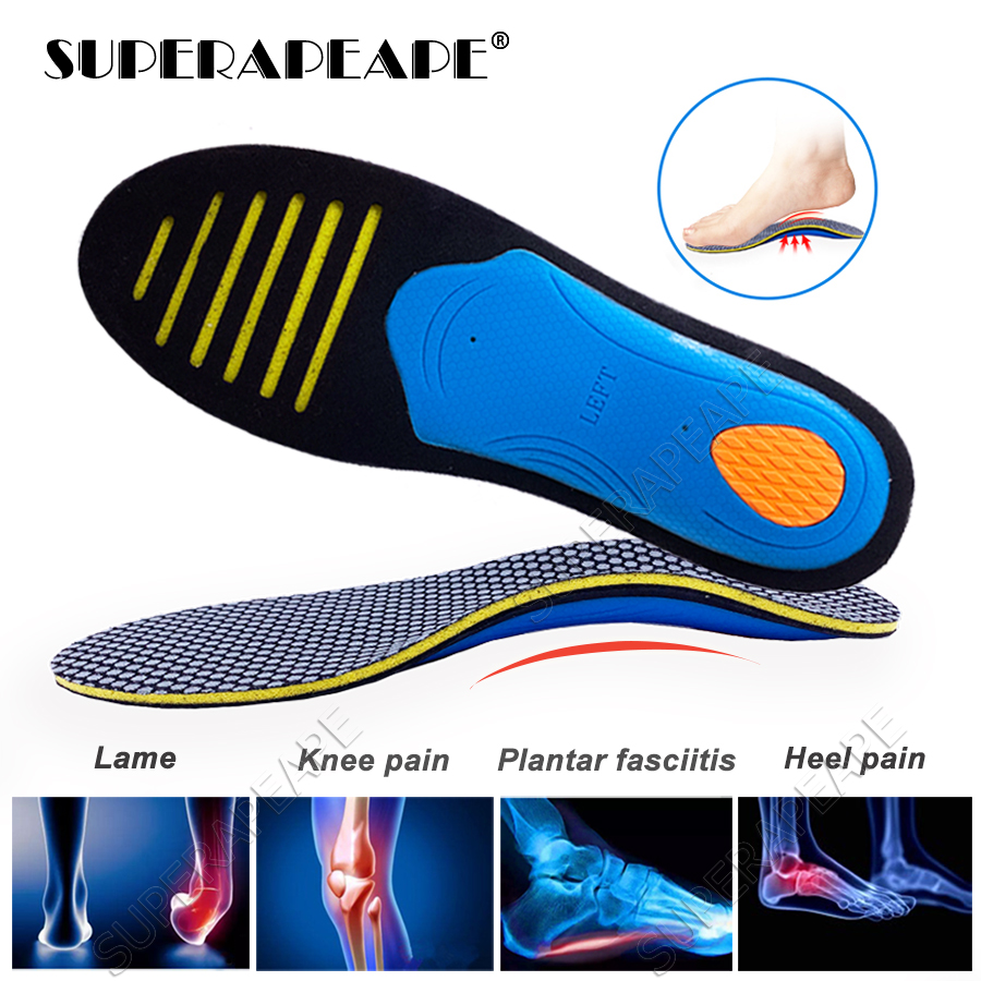 EVA Orthopedic Insoles For FlatFoot Arch Support Shoes Insert Pad Orthotics Shoes Insoles For Shoes Woman Men Plantar Fasciitis
