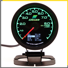 Racing Gauge GReddi Multi D/A LCD Digital Display Oil Pressure Car 2.5 Inch 62mm 7 Color in 1