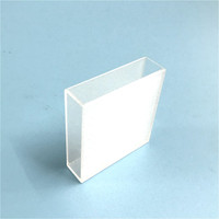 Glas Cuvette Light Path 50 Mm (Vloeibaar Monster Mobiele) 17.5 Ml Optische Glas Absorptie Cellen Gebruiken Voor Spectrofotometer 2/Pk