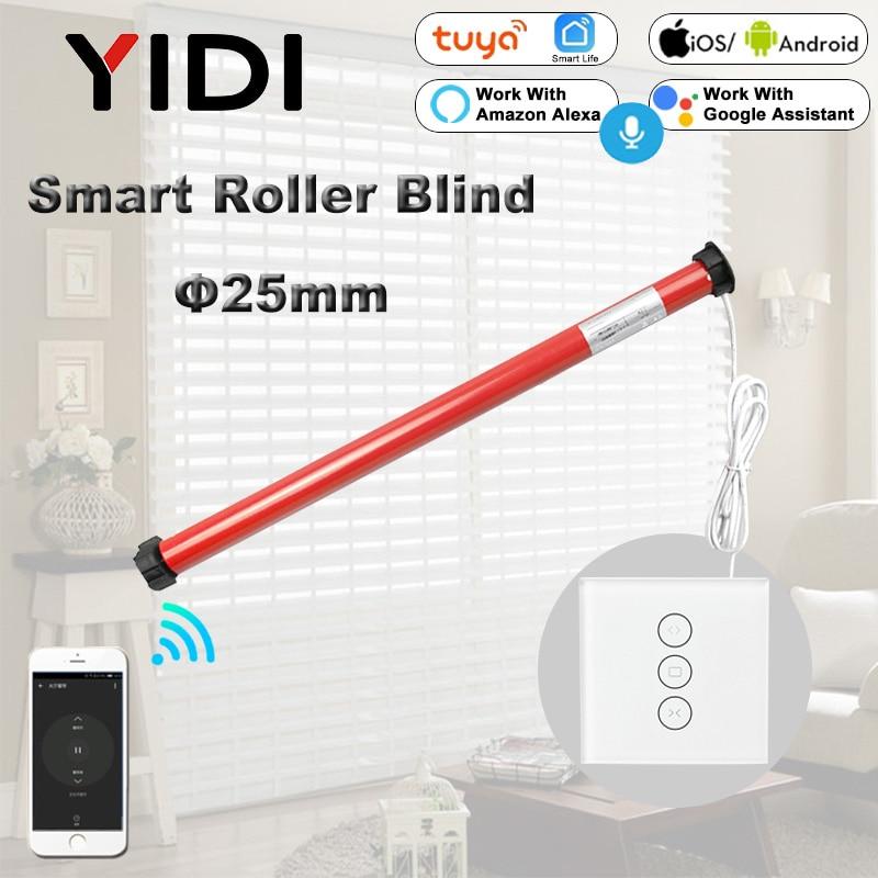 25mm Tubular Motor 110V 220V Automatic Electric Roller Blinds Shutter Motor For 38mm Tube Tuya Smart Home Wifi Curtain Switch