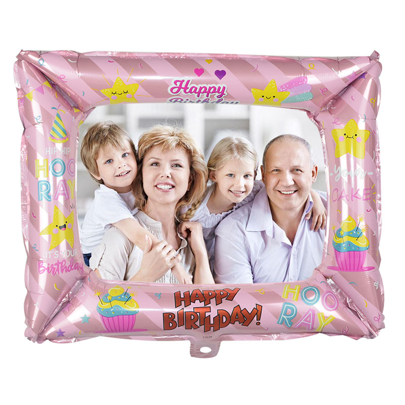 1Pcs Photo Booth Balloons Made With Foil Material For Birthday Photo Frame Globos 2