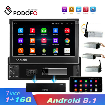 Podofo 7'' Inch Android Car Radio Stereo GPS Navigation Subwoofer Bluetooth USB SD 2Din Touch Screen Car Multimedia Audio Player image