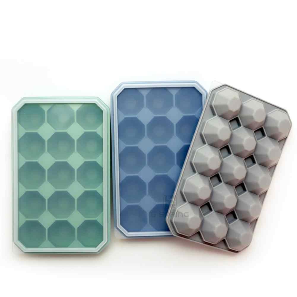 Fabricante de gelo silicone cubo de gelo molde de gelo bandeja de gelo em forma de diamante molde de bandeja de gelo